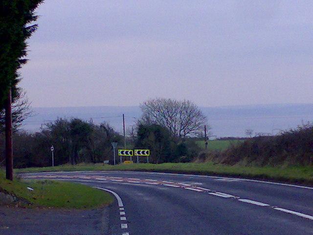 Sharp bend approaching Llanelli