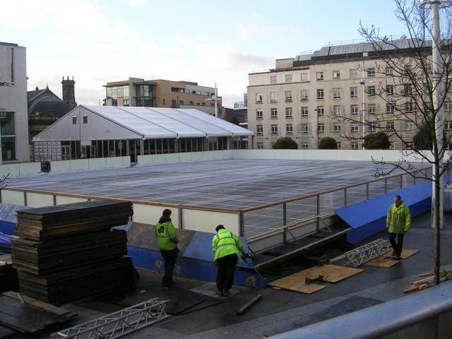 Ice Rink under construction - Millennium Square