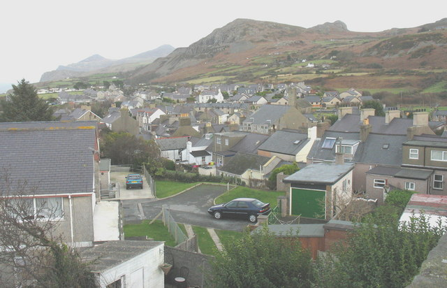 The north-eastern section of the town of Nefyn from The Tower