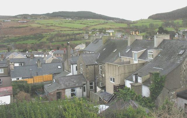 The backs of houses in Pen-y-Bryn, Nefyn