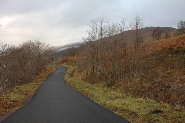 Minor Road alongside Loch Arkaig