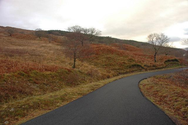 Minor road alongside Loch Arkaig