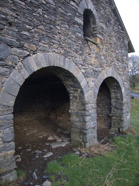 Partially restored mine building at Bron y Berllan