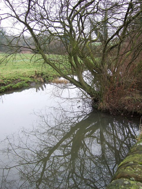 Mill pond at Stainsby Mill