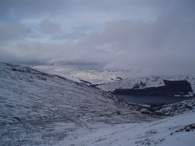 View across Coire Buidhe to Loch Earn