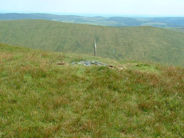 The summit of Gwaun y Llwyni