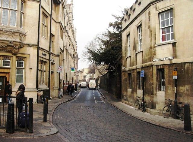 Corner of St Andrew's Street & Hobson Street.