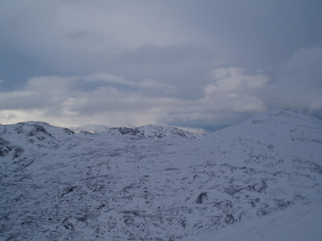 The view East to Meall na Fearna