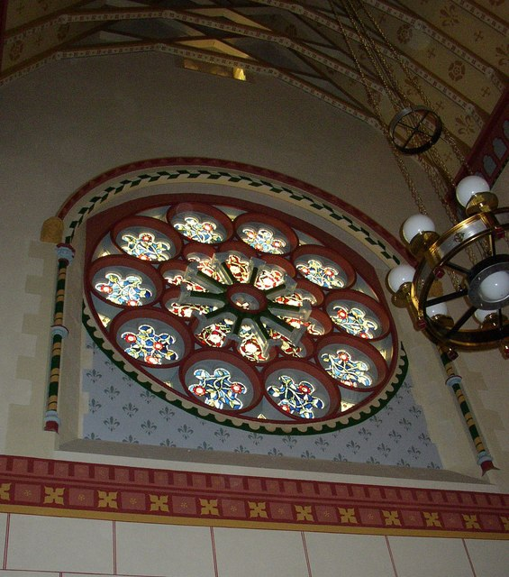 The rose window, St Peter's Cathedral, Lancaster