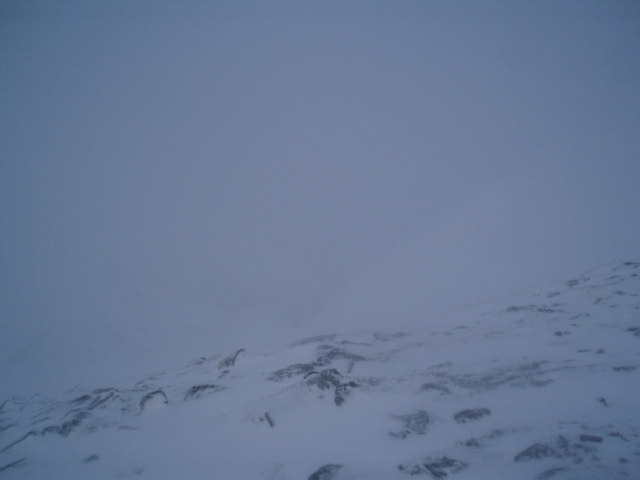 The view from Sgiath nan Tarmachan, into the Eastern Corrie close to the summit
