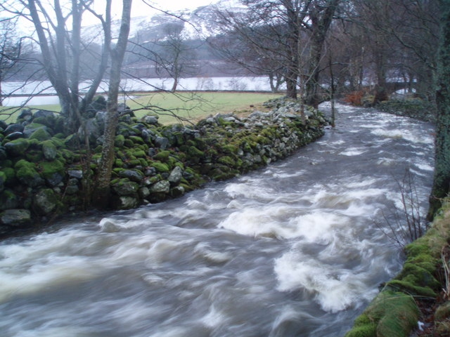 The Ardvorlich Burn, close to the road bridge.