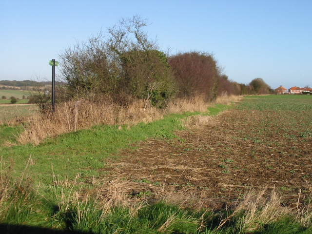 Route of the Miner's Way footpath to Elvington