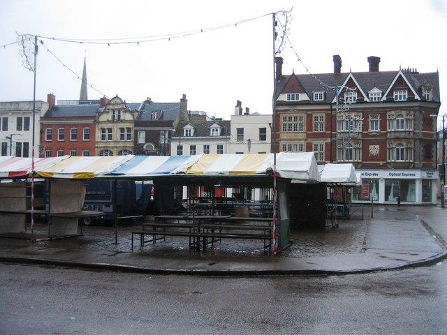 An empty market