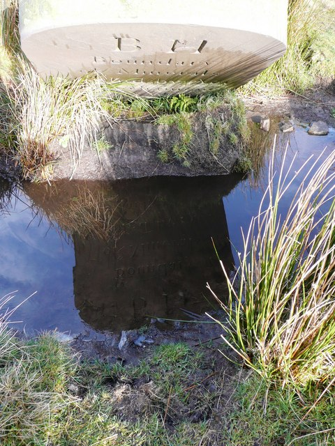 Boundary stone on Mynydd Maen