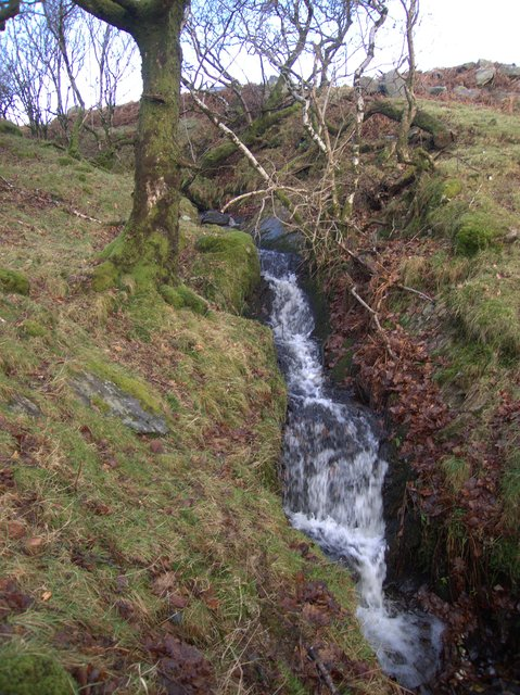 Waterfall on Rhos Bron y Berllan