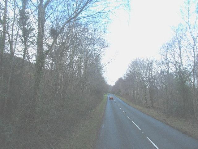 The A497 at Coed y Cefn