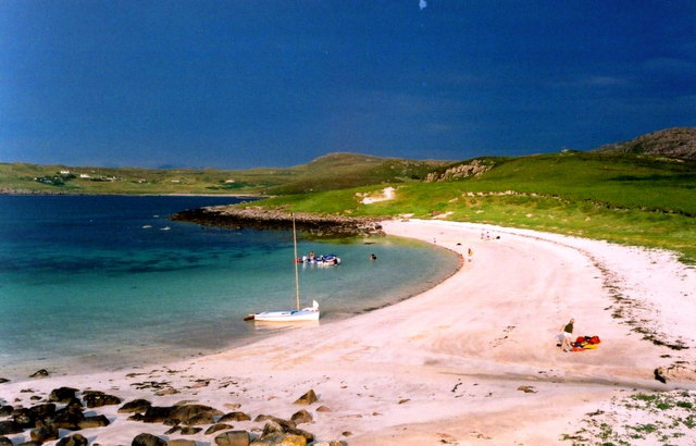The shell-sand beach on Isle Ristol, Summer Isles