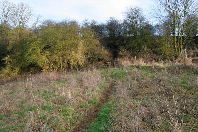 Public footpath near Eaton