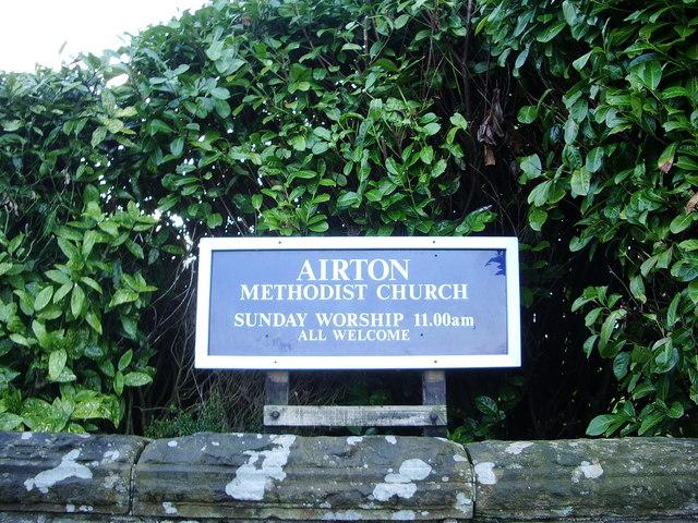Airton Methodist Church, Sign