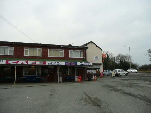 Shop, cafe and post office