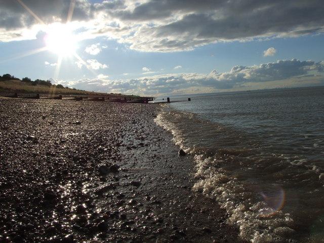 Along the shoreline. Minster-on-Sea