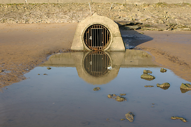 The outfall from Fairhaven Boating Lake