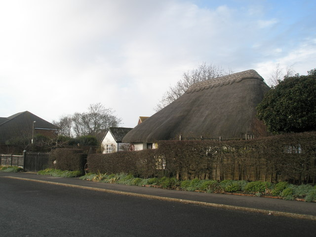 Thatched cottage near Old Bridge Meadow
