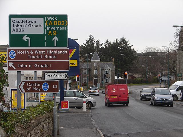 Road Junction in Thurso