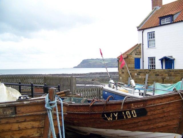 Fishing boats at Robin Hood's Bay