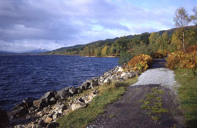 Track on the northern shore of Loch Garry