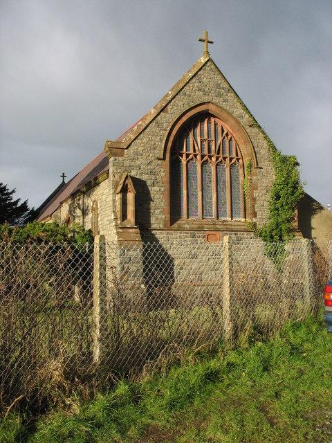 The sanctuary window of St David's CinW Church