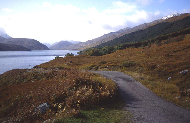 Lane along the Loch Arkaig shore