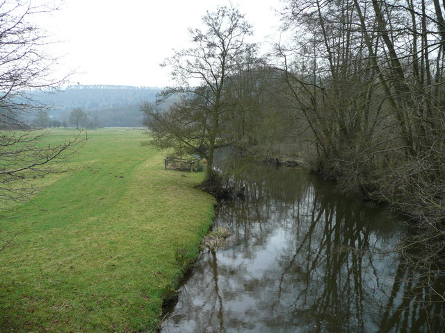 River Onny - view downstream