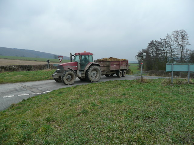 Tractor on the move