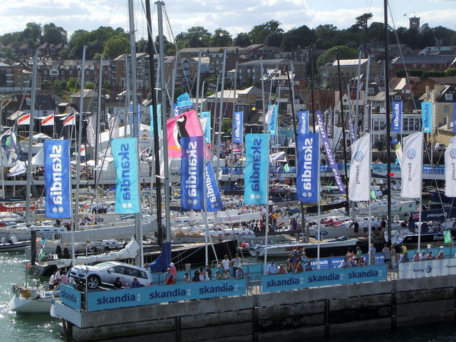 Cowes Marina During Cowes Week