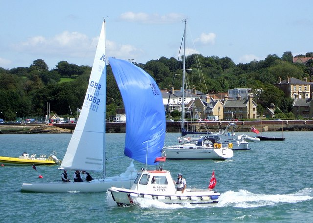 East Cowes, viewed from Cowes During Cowes Week.