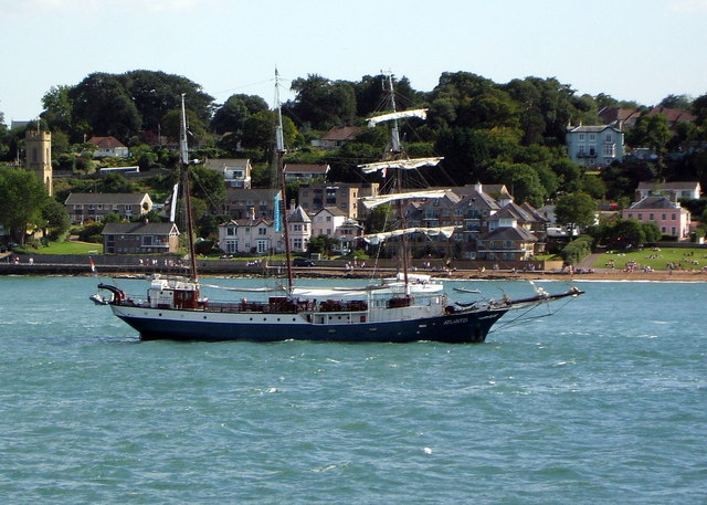 Cowes Waterfront from the Solent