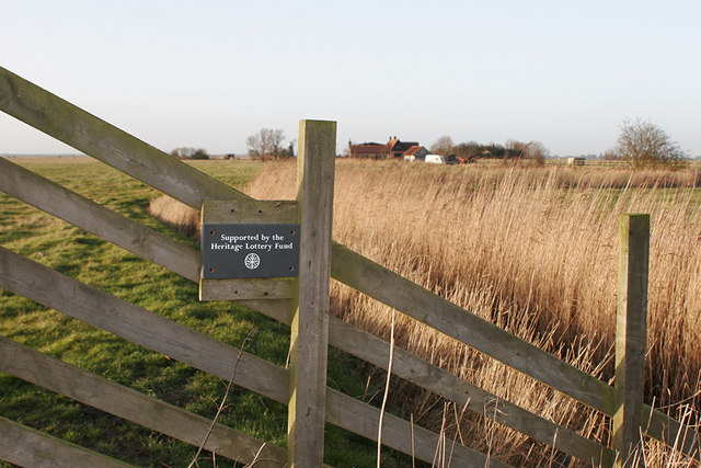 Heritage Lottery Fund sign on fence