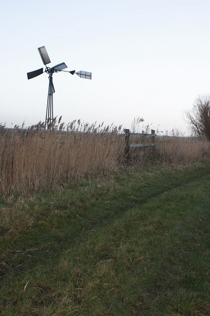 Windpump beside Weaver's way