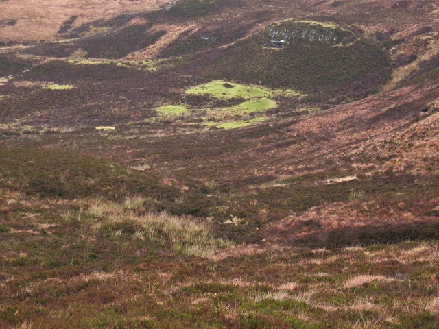 Hut circles at the head of Glen Suardal