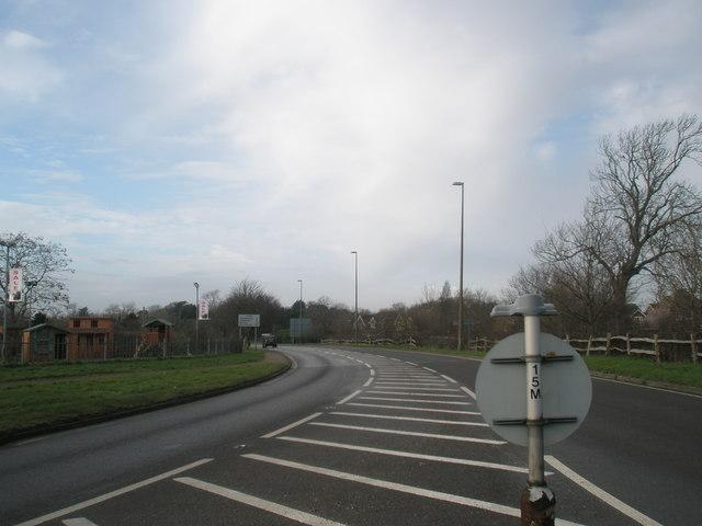 View westwards from Bosham Roundabout