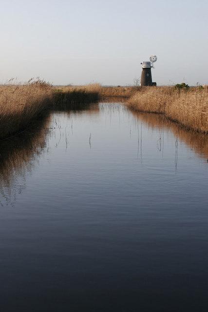 Howard's Drainage Mill from Halvergate Fleet