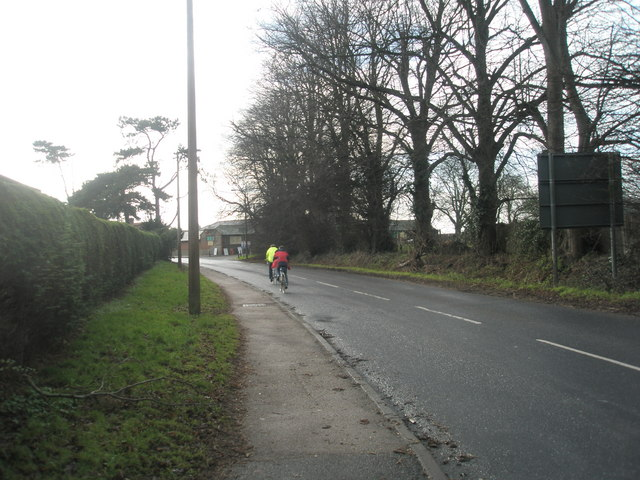 Cyclists in Delling Lane