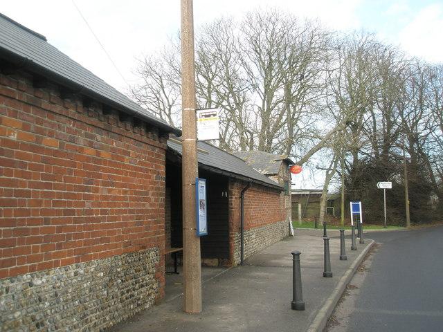Bus stop by Bosham Post Office