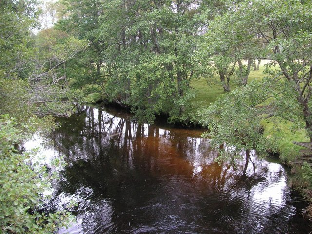 From the bridge at  Balnascriten, Glen Feshie