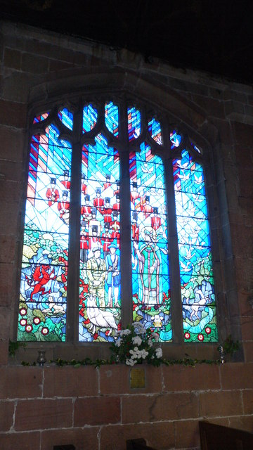 Stained glass window, St Giles Wrexham