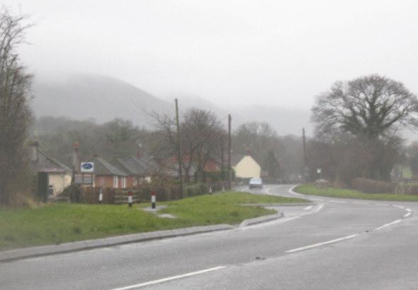 The A488 at Ploxgreen