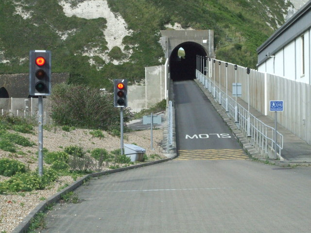Entrance tunnel to Samphire Hoe Country Park