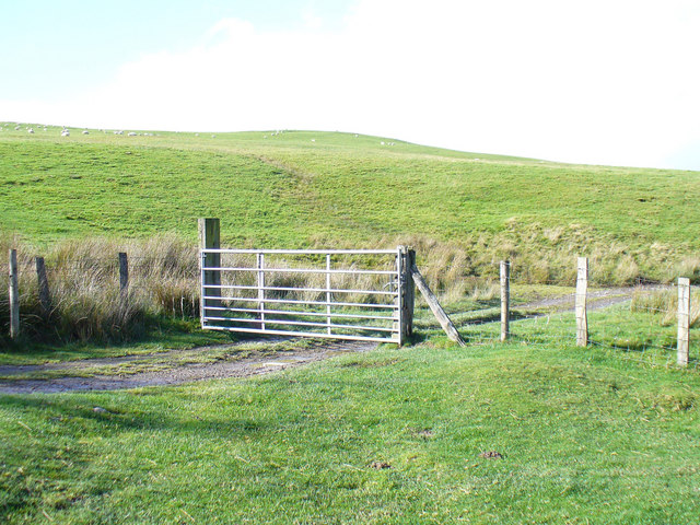 The first gate on the track from the Llandrillo pass