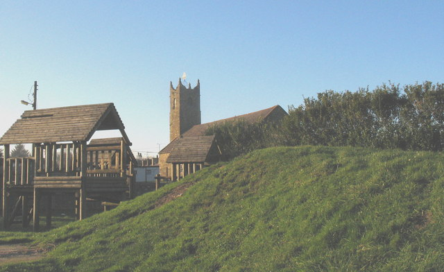 The former St Mary's Church from the playground